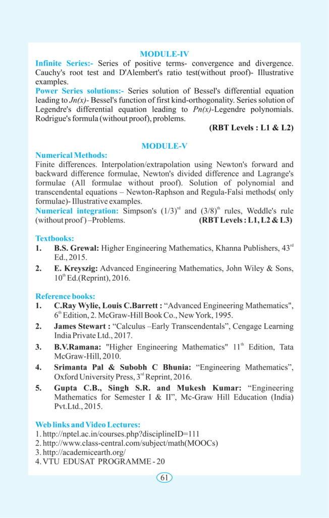 Advanced Calculus & Numerical Methods : Semester-2 : VTU